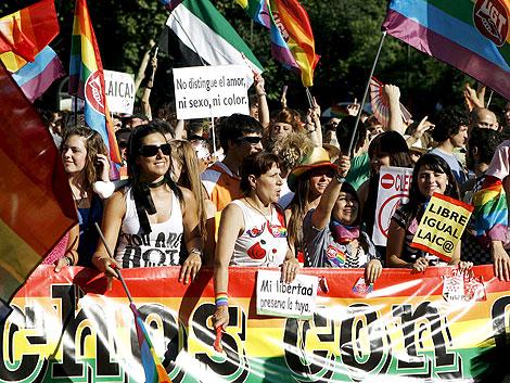 Varios asistentes a la manifestación.   Efe