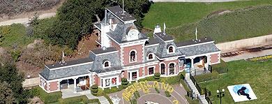 Imagen aérea del rancho del artista. | EFE