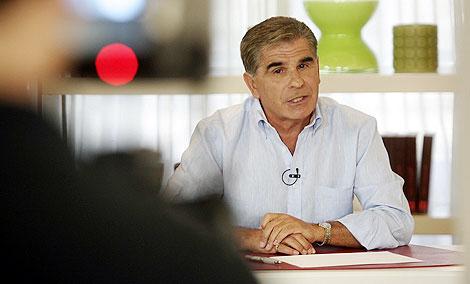 Pedro Ruiz, durante el programa.   Foto: Diego Sinova