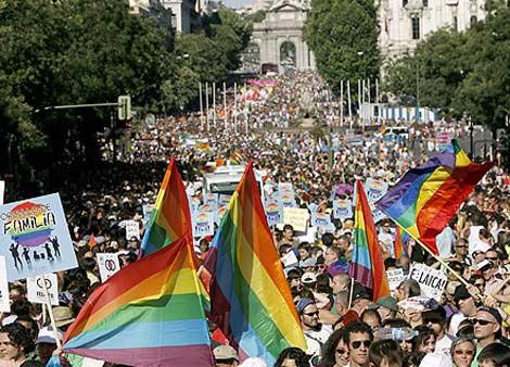 Imagen de la marcha del 'Orgullo'. (Efe)