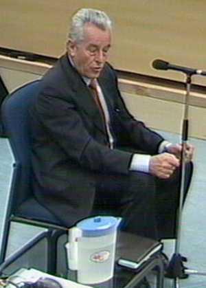 El ex jefe de los Tedax, Juan Jesús Sánchez Manzano, testificando en el juicio del 11-M, el 14 de marzo de 2007.