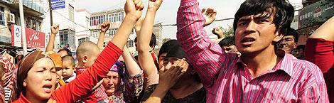 Protestantes en Urumqi   AFP