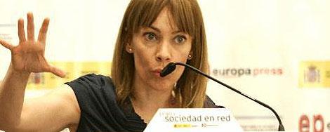 María Garaña durante su intervención.   Europa Press