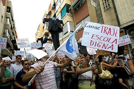 - Protesta celebrada en la localidad valenciana de Alaquàs. | Efe