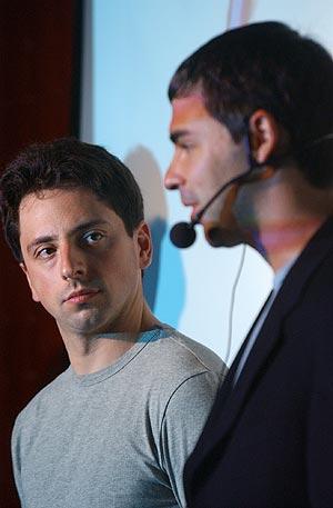 Los fundadores de Google, Larry Page y Sergey Brin. (Foto: R. Cases)