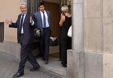 Sánchez Manzano a la salida del juzgado. | Gonzalo Arroyo