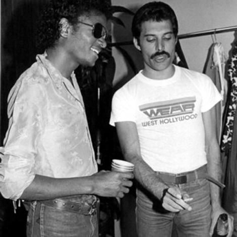 Michael Jackson y Freddie Mercury.