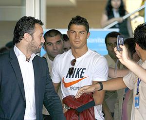 Ronaldo durante su visita a Madrid. | Foto: Afp