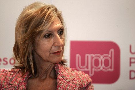 Rosa Díez, en la reunión del Consejo Político de UPyD. | Diego Sinova