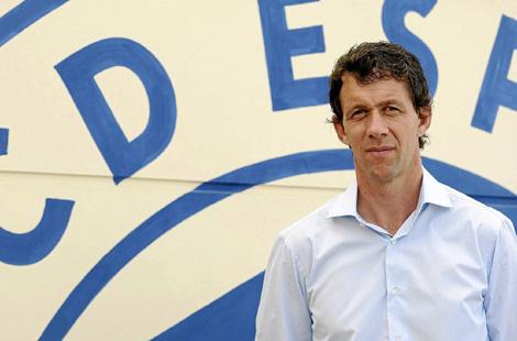 El nuevo director deportivo blanquiazul.   Antonio Moreno