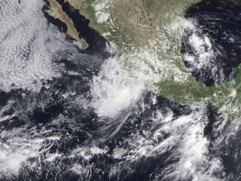 Imagen de la tormenta tropical Andrés tomada el 23 de junio. | AFP/NOAA