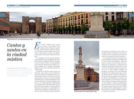 Página doble de la guía de Ávila