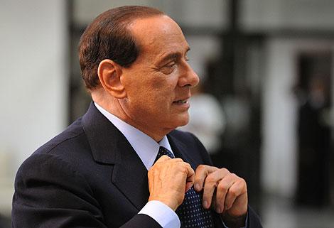 Silvio Berlusconi durante la cumbre del G-8 celebrada en L'Aquila. | Afp