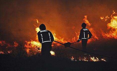 Imagen de un incendio sucedido en León. | Ical