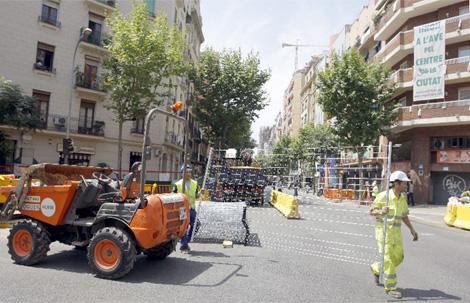 Obras de la infraestructura ferroviaria entre Mallorca y Padilla. | Efe
