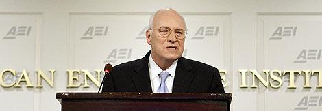 Dick Cheney pronuncia un discurso en Washington.   Reuters