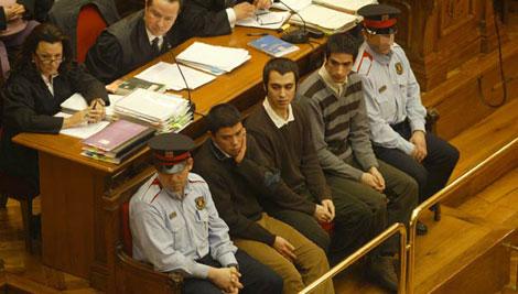 Los tres condenados, durante la celebración del juicio | Antonio Moreno