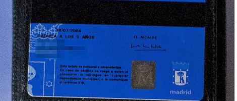 Imagen de uno de los carnés de Policía Municipal que caduca el 16 de julio de 2009 (Foto: E.M)