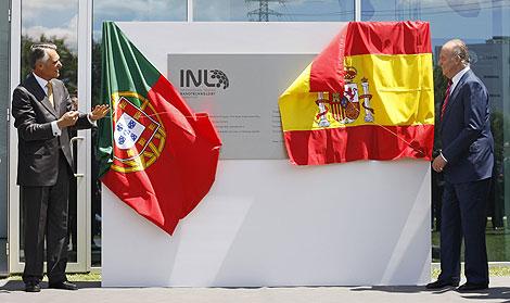 El presidente de Portugal, junto al Rey de España durante la inauguración. | Reuters.