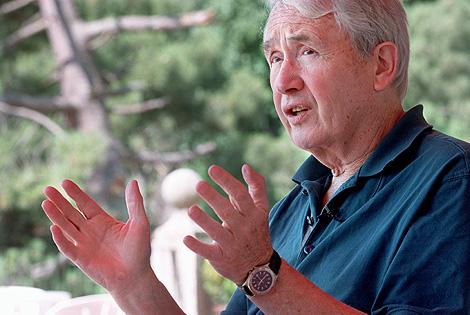 Frank McCourt, en una entrevista en El Escorial en 2000. | B. Cordón