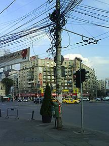 Vista de una calle de Bucarest.