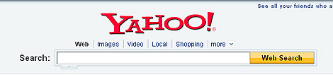 Cabecera actual de Yahoo!