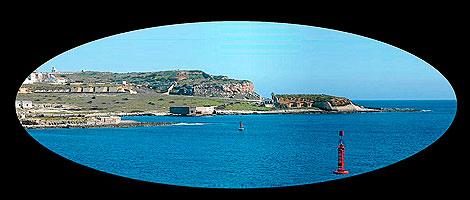 Vista del puerto de Mahón, donde está la Batería de Punta Afuera | Museo Militar de Menorca