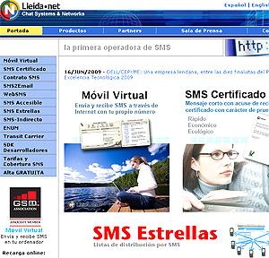 Lleida.net, web a través de la que ls propietarios podrán hacer uso de este servicio.