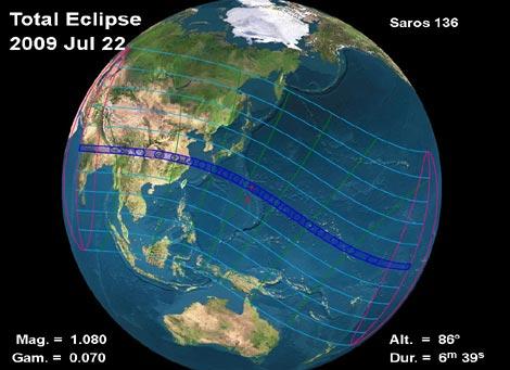 Banda de observación del eclipse total de Sol. | NASA
