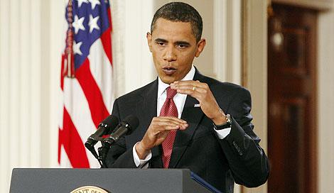 Obama, durante la rueda de prensa. | Reuters