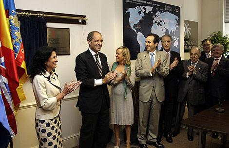 Francisco Camps inaugura la nueva oficina del IVEX en Londres. | G.V.