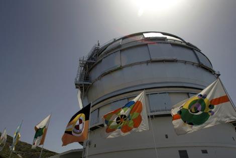 El Gran Telescopio Canario, al atardecer, en el Roque de los Muchachos.| AFP
