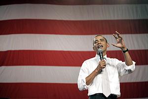 Obama en el escuela secundaria de Shaker Heights enn Ohio, EEUU, como parte de los esfuerzos para promover la reforma sanitaria en el país. (Foto: EFE)