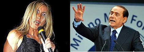 Patrizia D'Addario y Silvio Berlusconi. | AFP