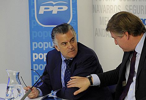 Bárcenas, el martes por la mañana, en el Comité Ejecutivo, antes de dimitir. | Bernardo Díaz