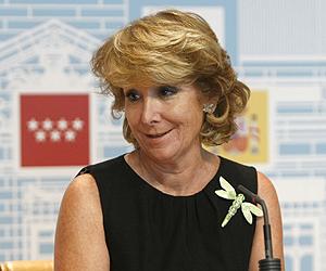 La presidenta de la Comunidad de Madrid, Esperanza Aguirre | Efe
