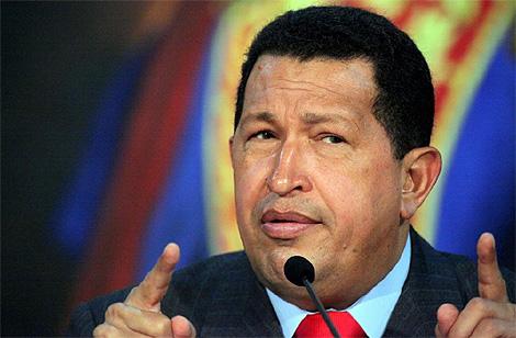 El presidente venezolano, Hugo Chávez, en Caracas. (Foto: AFP)