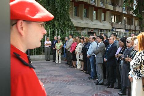 En el acto han estado presentes representantes de todas las formaciones.   Iñaki Andrés