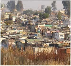 Vista de Diepsloot, asentamiento junto a Johanesburgo. | africaeducationproject.org