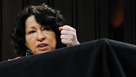 Sotomayor, durante la ronda de preguntas del Comité de Justicia del Senado. | AFP