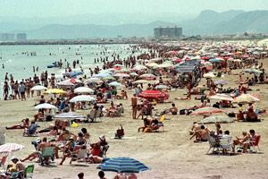 Vistas de la playa de Cullera. | J. C.