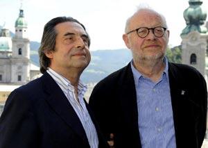 Jürgen Flimm y el director italiano Ricardo Muti en el Festival de Salzburgo.| EFE