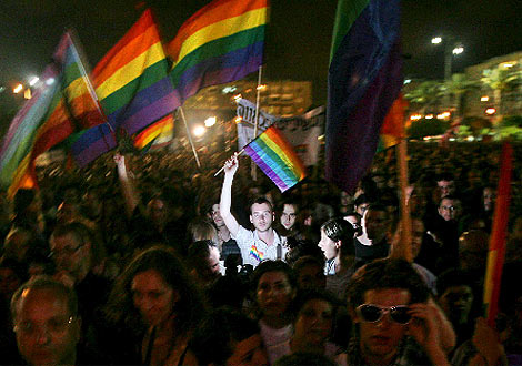Imagen de la manifestación en Tel Aviv. (Efe)