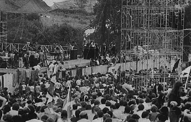 Imagen de los asistentes al festival de Woodstock, en 1969. | AP