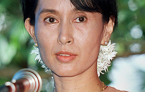 Aung San Suu Kyi.| AFP