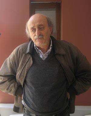 El líder druso, Walid Jumblatt, durante una entrevista. | Mónica G. Prieto