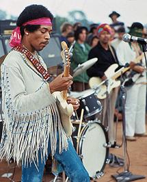 Jimi Hendrix en Woodstock. | Henry Dilt.