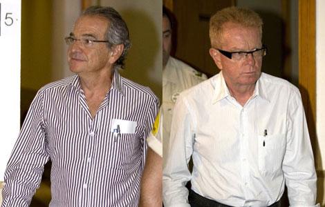 Luis y Jaime García Ruiz antes de prestar declaración.   Efe