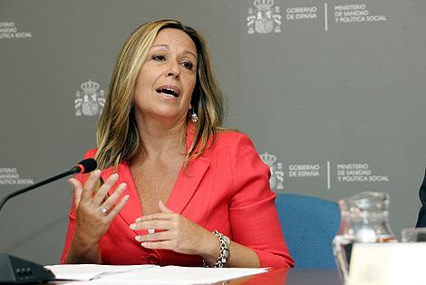 La ministra de Sanidad, Trinidad Jiménez. | Diego Sinova