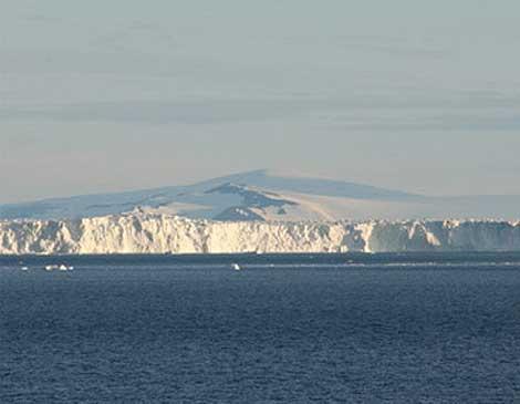 Imagen del glaciar de la Isla de Pinos. | Universidad de Leeds.